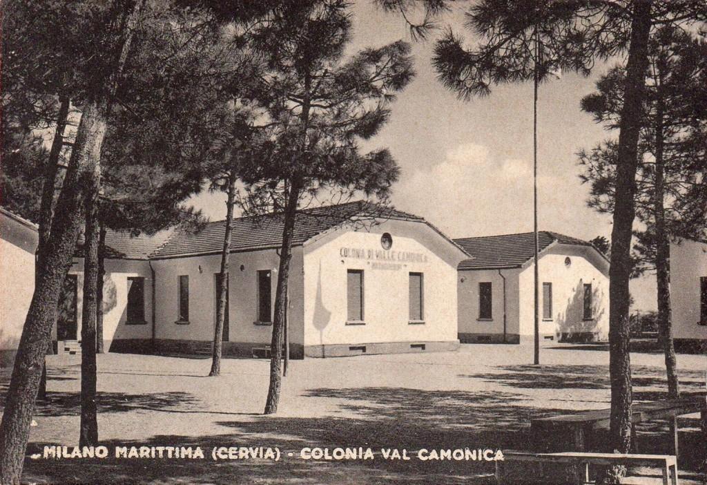 Il lato della colonia che dava sul Viale 2 giugno