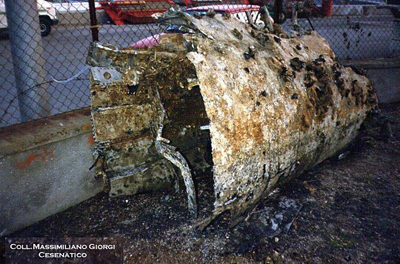 Ripescato un Thunderbolt a Savio nel 1985