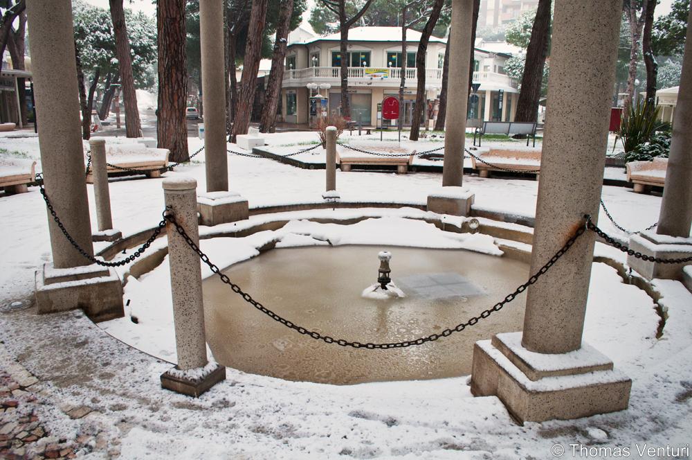 Neve a Cervia e Milano Marittima